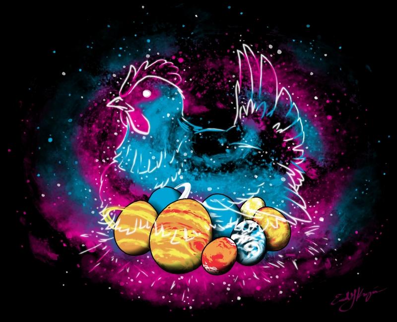 Cosmic Chicken by Emchromatic