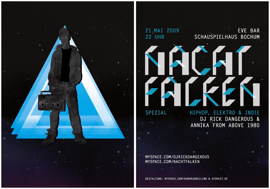 NACHTFALKEN Flyer by rockst3ady