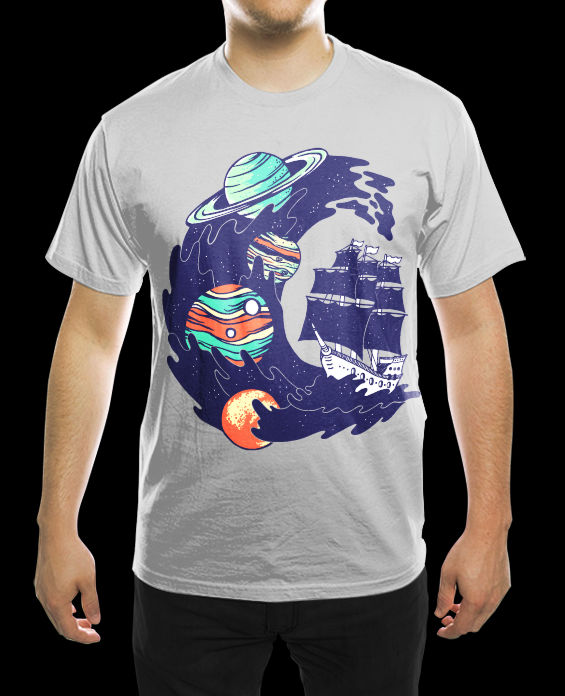 Spaceship Shirt -for sale-