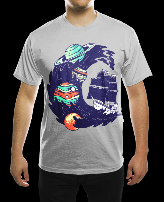 Spaceship Shirt -for sale- by rockst3ady