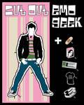 CUT OUT EMO GEEK by rockst3ady