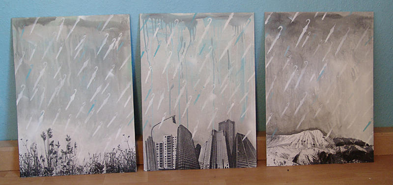 It's raining umbrellas by rockst3ady
