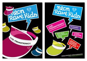 Neon Rave Kids Flyer III by rockst3ady