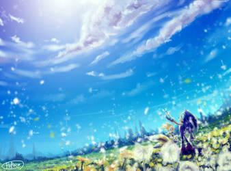 Dandelion field by bbpopococo