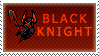 Black Knight Stamp by QueenOfCuttlefishes