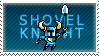 Shovel Knight Stamp by QueenOfCuttlefishes