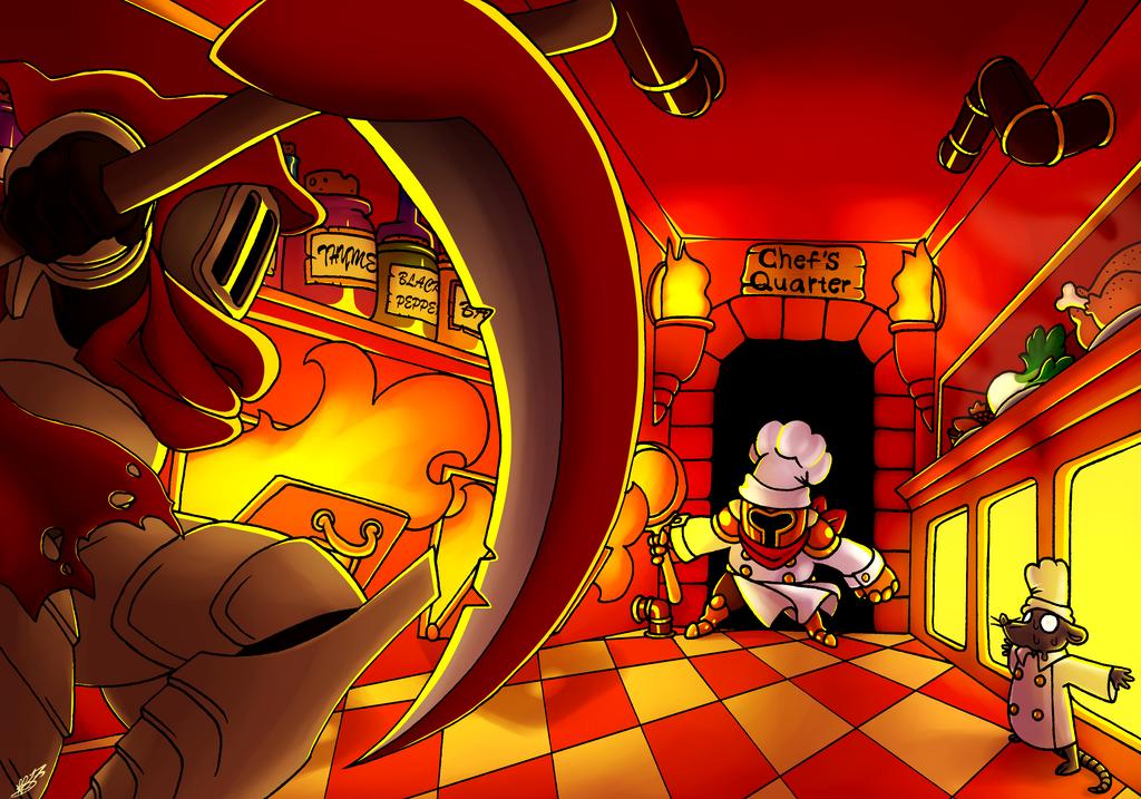 Specter Knight VS Pan Knight by KingRebecca
