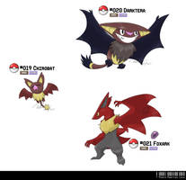 019, 020, 021: Dark Bat Fakemon