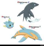 063, 064, 065 - Dolphin Fakemon