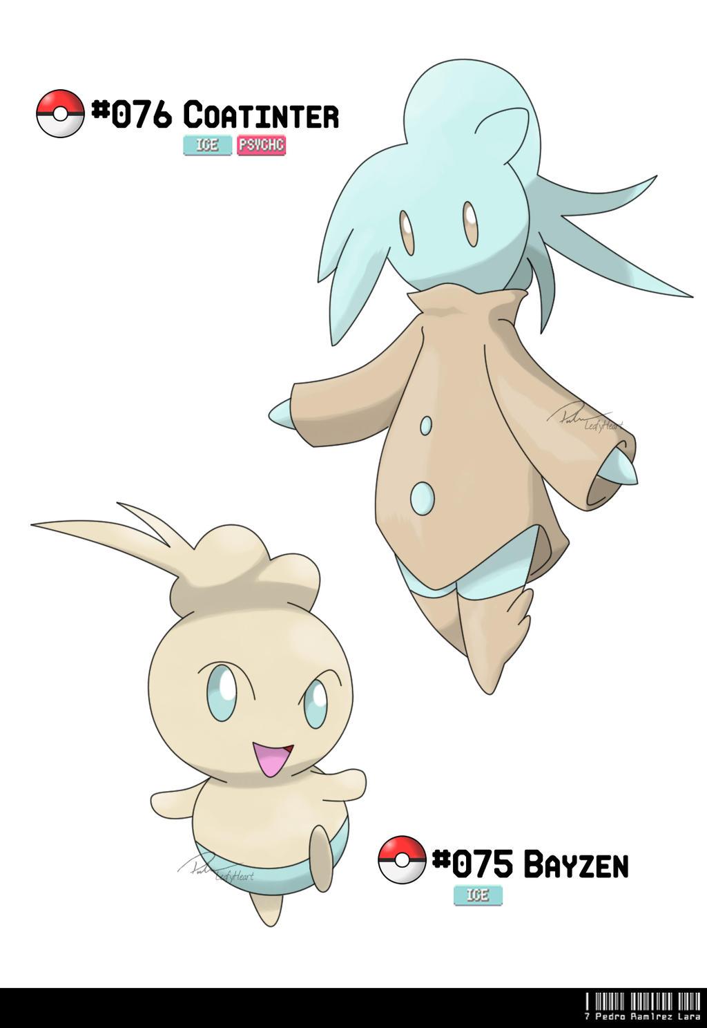Ice Type Pokemon Wallpaper 075 - 076: Coat Fakemo...
