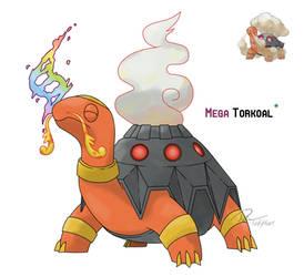 Mega Torkoal by LeafyHeart