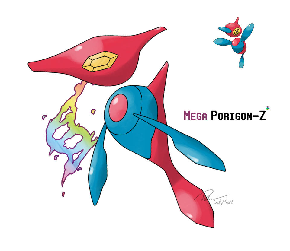 Mega Porygon-Z by LeafyHeart on DeviantArt
