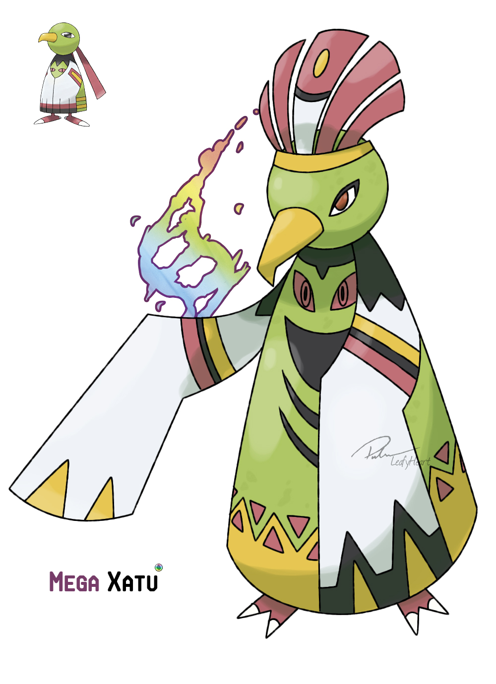 Mega Xatu by LeafyHeart