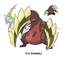 Mega Excadrill by LeafyHeart