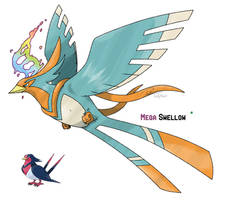 Mega Swellow by LeafyHeart