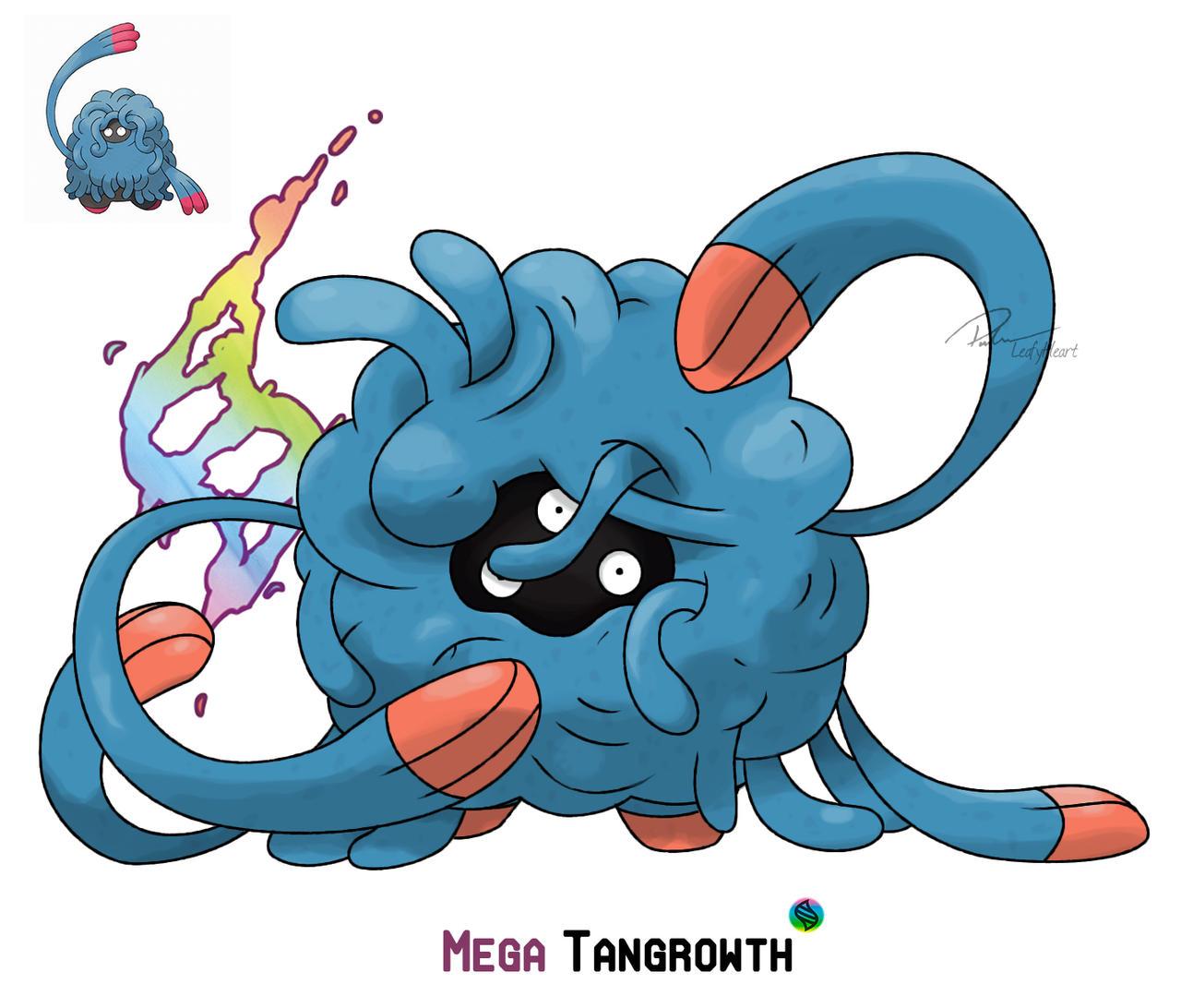 Mega Tangrowth by LeafyHeart on DeviantArt