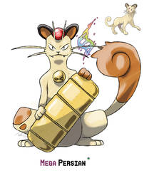 Mega Persian by LeafyHeart