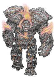 Fire Golem by Rayodev