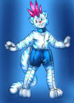 Mohawk Tiger Pooltoy