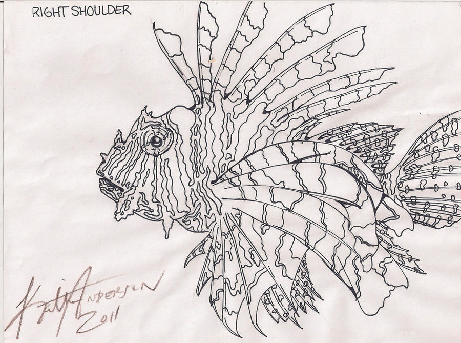 e55ec8ca2 Lion Fish Tattoo by Sexynightmare on DeviantArt