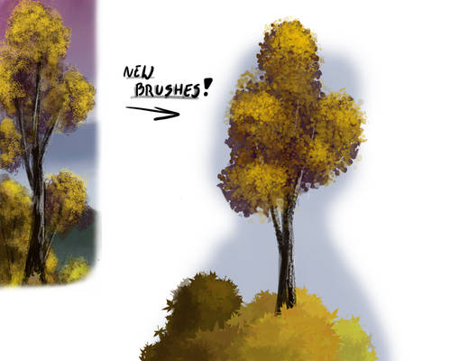 New brushes in use!