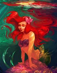 Ariel the little mermaid by Eldensa
