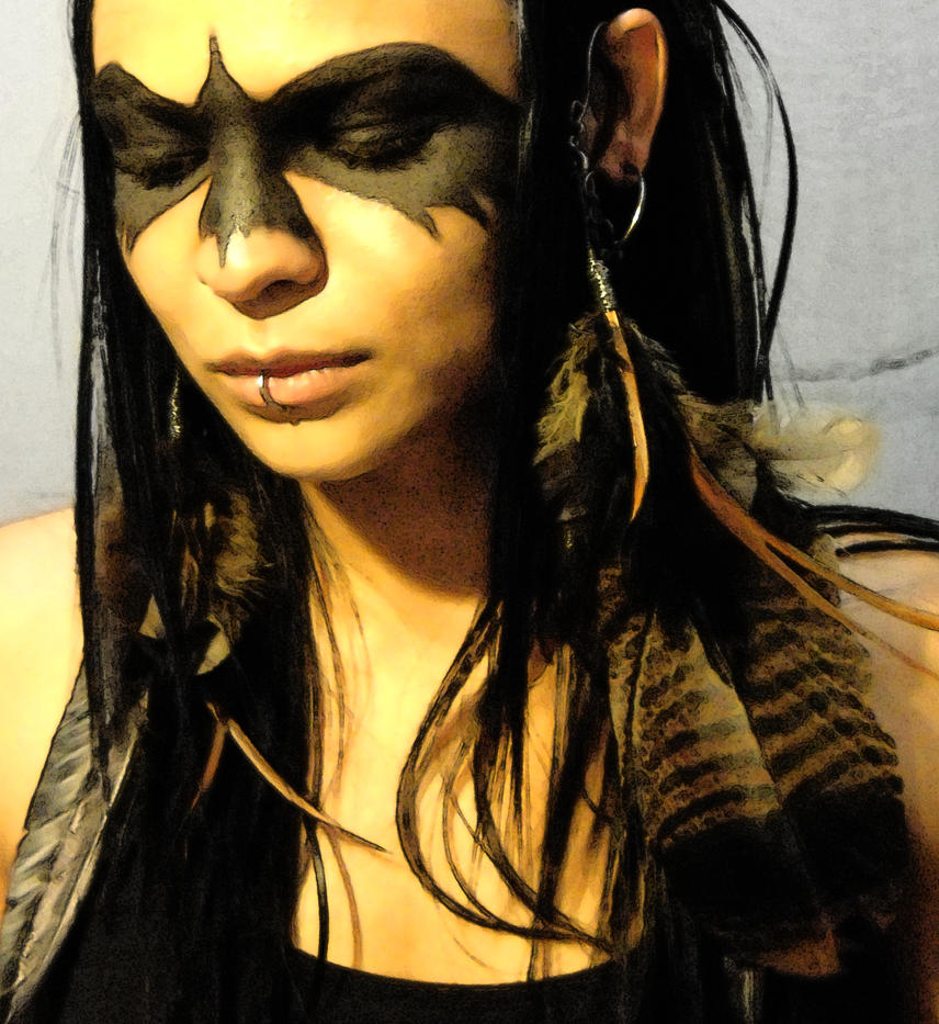 Native American Makeup... Aztec Warrior Face Paint