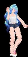 [MMD] Tda Summer HatsuneMiku [DL] by MMDVocaloidThailand