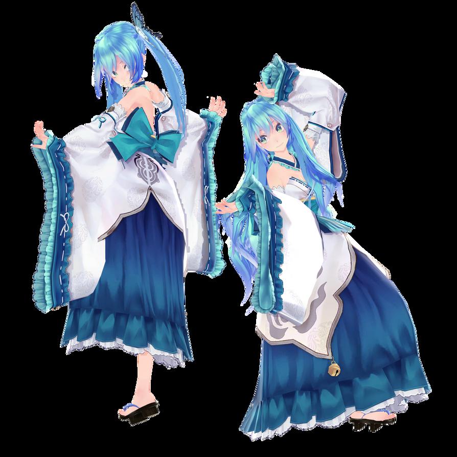 [MMD] Tda HatsuneMiku Kimono [DL] [Fix] by MMDVocaloidThailand