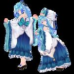 [MMD] Tda HatsuneMiku Kimono [DL] [Fix]