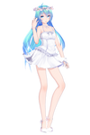 .:TDA HatsuneMiku Sakura White dress update DL:.