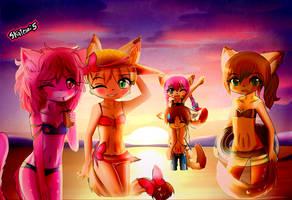 Little Tails - Un dia en la plasha- by skatesai5