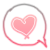 acrylic heart 039