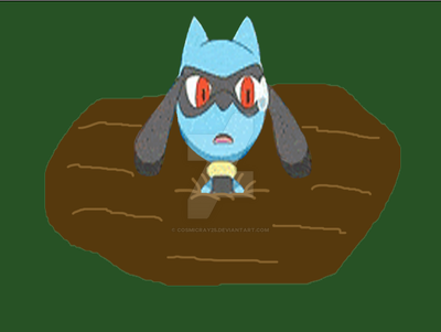 Riolu in Quicksand by CosmicRay25