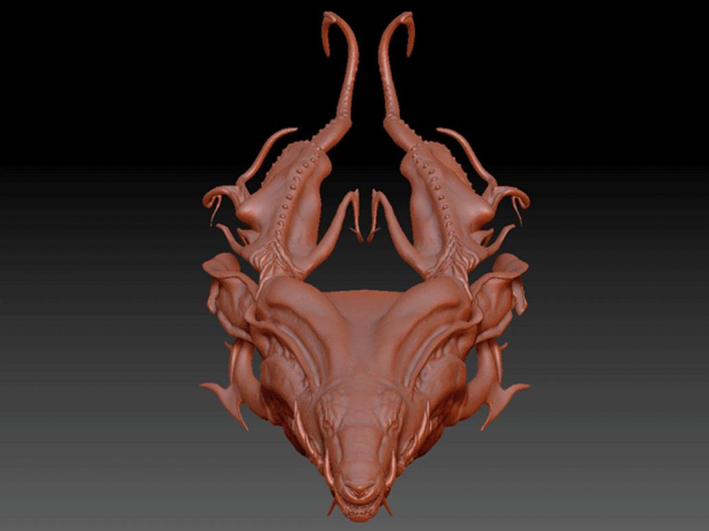 Nari Head Sculpt WIP by Konori