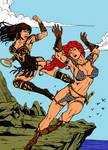 Red Sonja X Xena By Rene micheletti