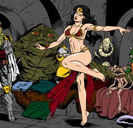 Wonder woman and Jabba the Hutt