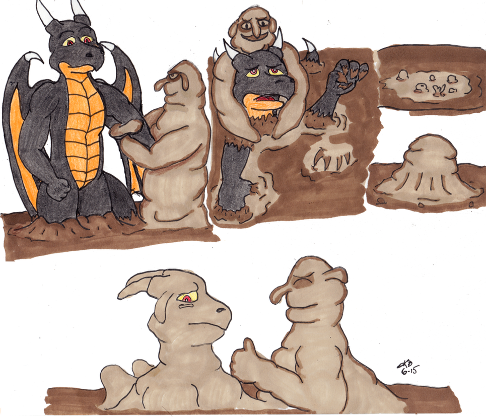 Argon Meets the Muck Monster by KritterDefier