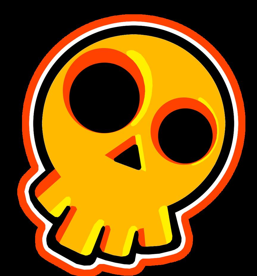 Skull sticker design by crimson soda on deviantart - Stickers style industriel ...