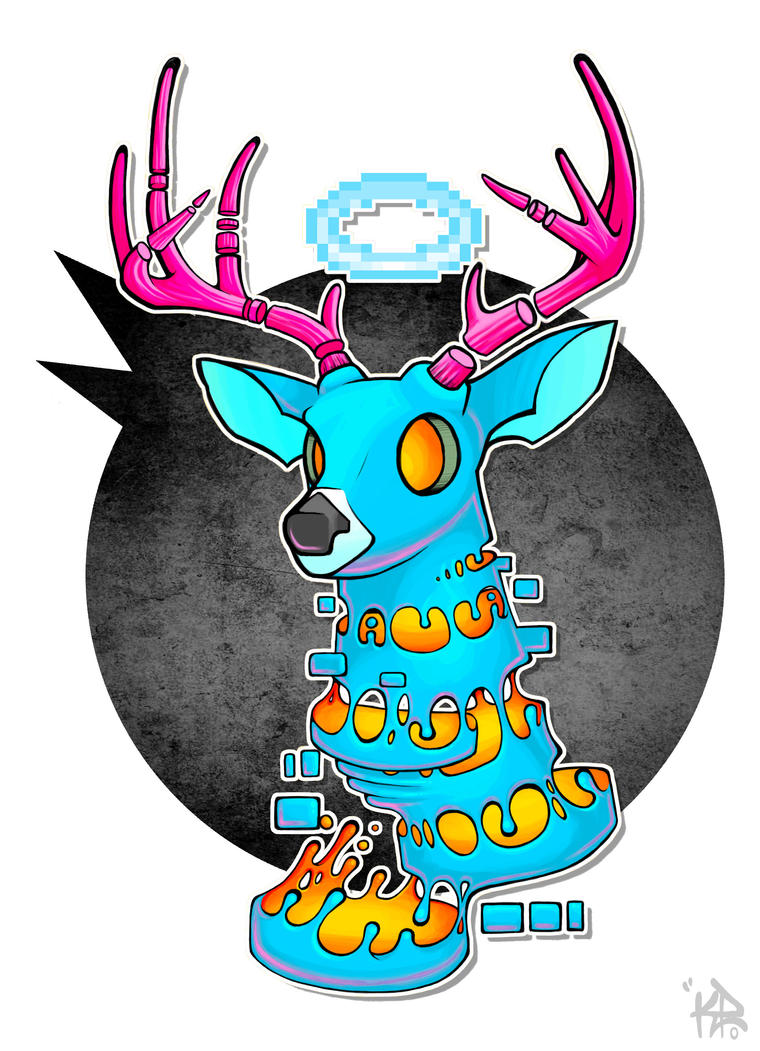 Deer Head  by Crimson-Soda