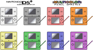 Nintendo DS Colored Sprites by ElderKain