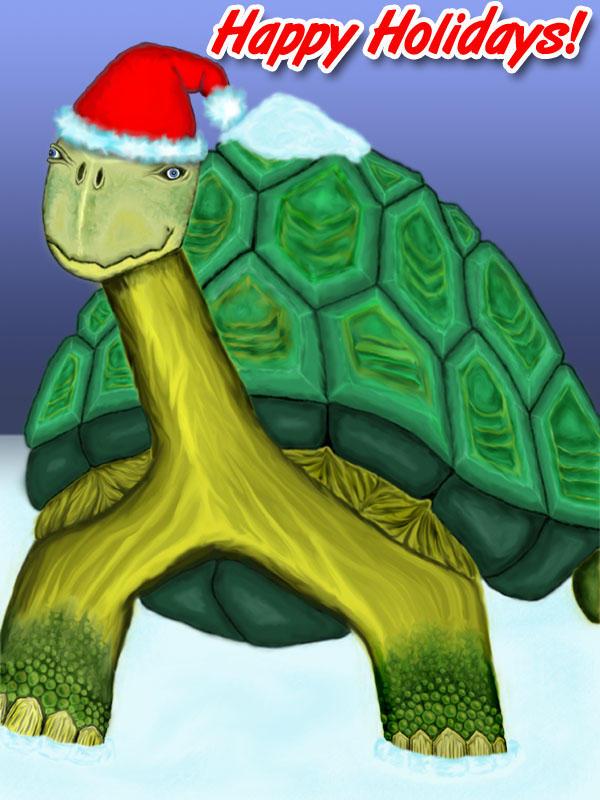 A Christmas Turtle by supaspoida