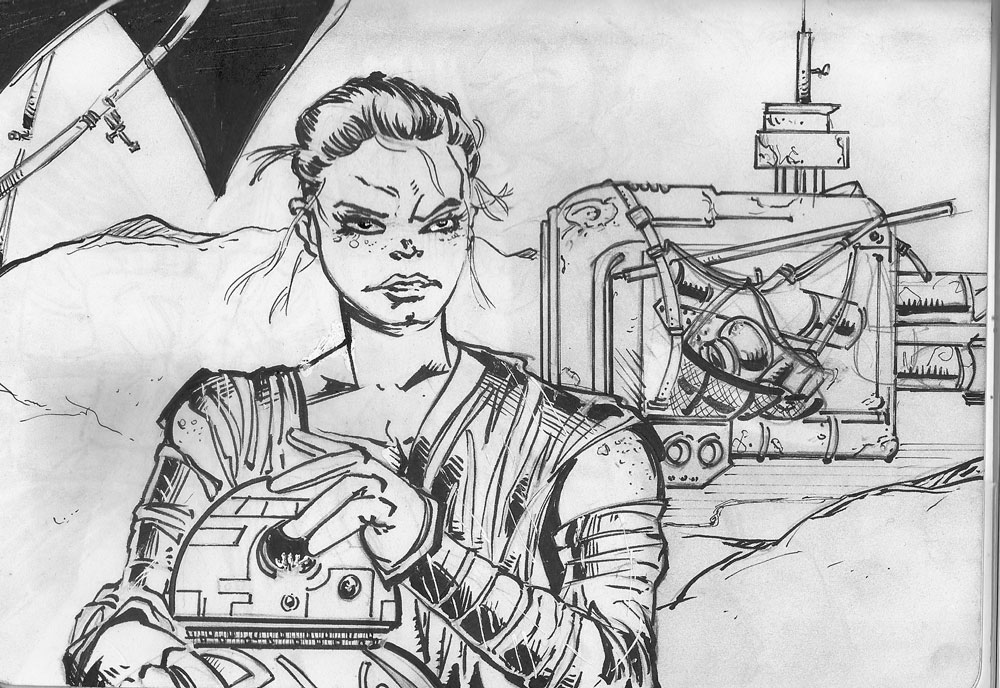Rey and BB8 Inks by mcd91