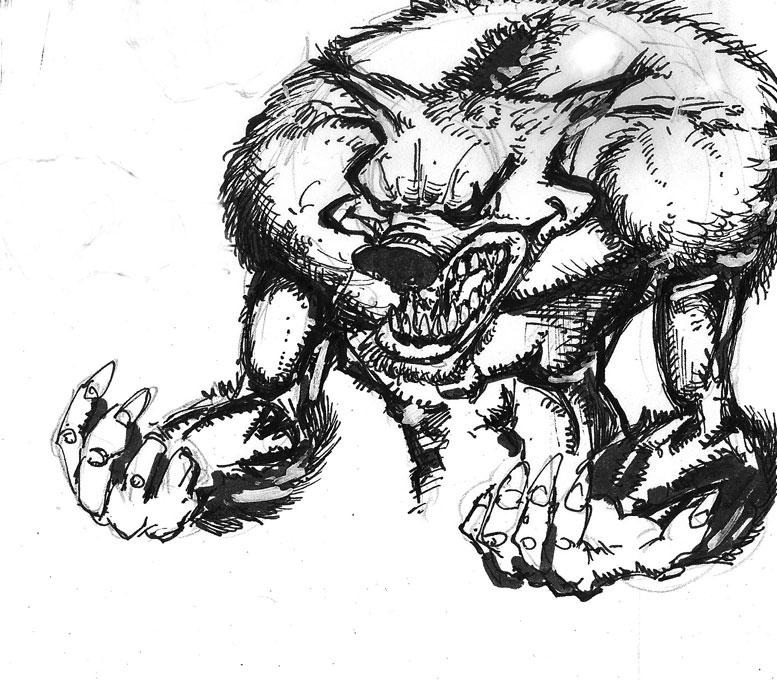 Werewolf sketch by mcd91