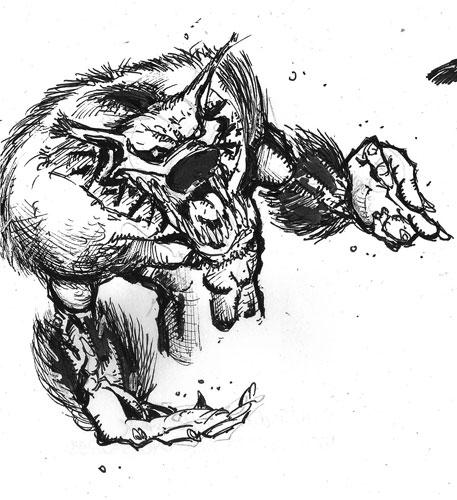 Werewolf sketch II by mcd91