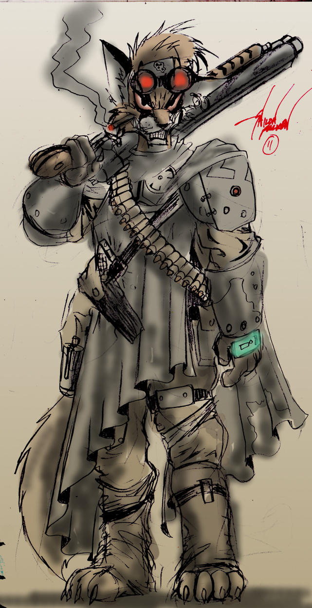 postapocalypse scout by spaceweasel2306