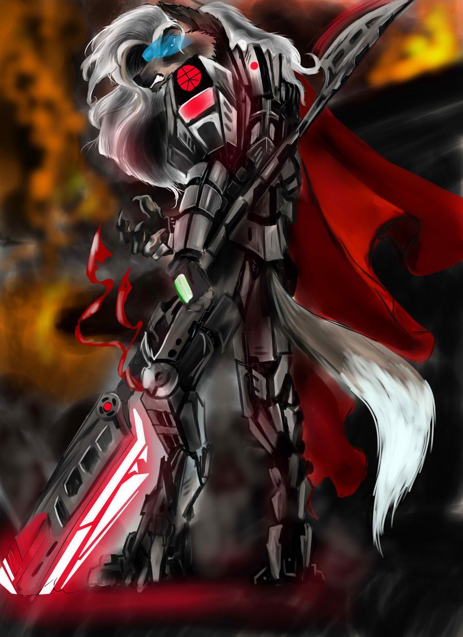 kayaba 7 series, hard light combat suit by spaceweasel2306