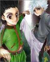 Gon and Killua by Tartarus-Gurren