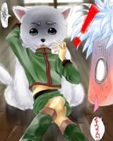 gon killua and sadaharu by Tartarus-Gurren