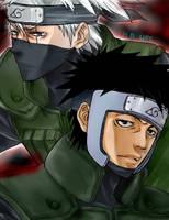 Tenzou and Kakashi by Tartarus-Gurren